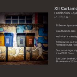 Relación fotos seleccionadas para concurso XII Certamen de Fotografía Fundación Caja Rural Jaén, Recicla +