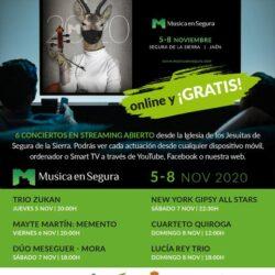 VII EDICIÓN DE MÚSICA EN SEGURA, online  5 al 8 de noviembre 2020