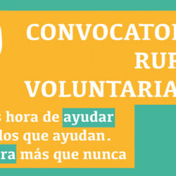 CONVOCATORIA RURAL VOLUNTARIADO 2021
